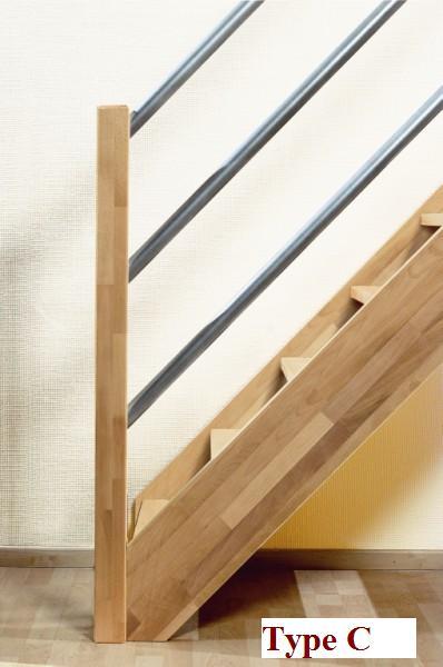 Beuken houten trap savoie for Steektrap hout