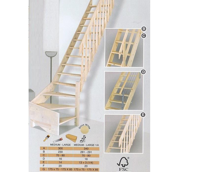 Bouwpakkettrappen doe het zelf trappen houten trappen en for Zelf zoldertrap maken